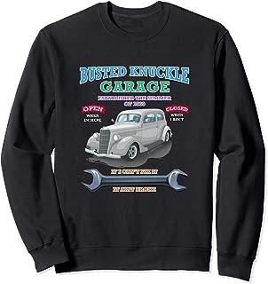 Busted Knuckle Classic Car Garage Hot Rod Tee Novelty Gift Sweatshirt