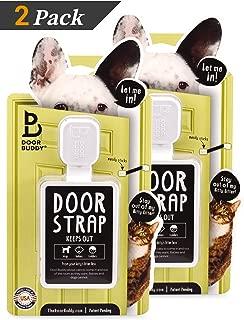 Door Buddy Adjustable Door Latch (Grey 2 Pack). Simpler Way to Dog Proof Litter Box. No More Pet Gates or Cat Doors. Convenient Cat and Adult Entry. Stop Dog Eating Cat Poop Today