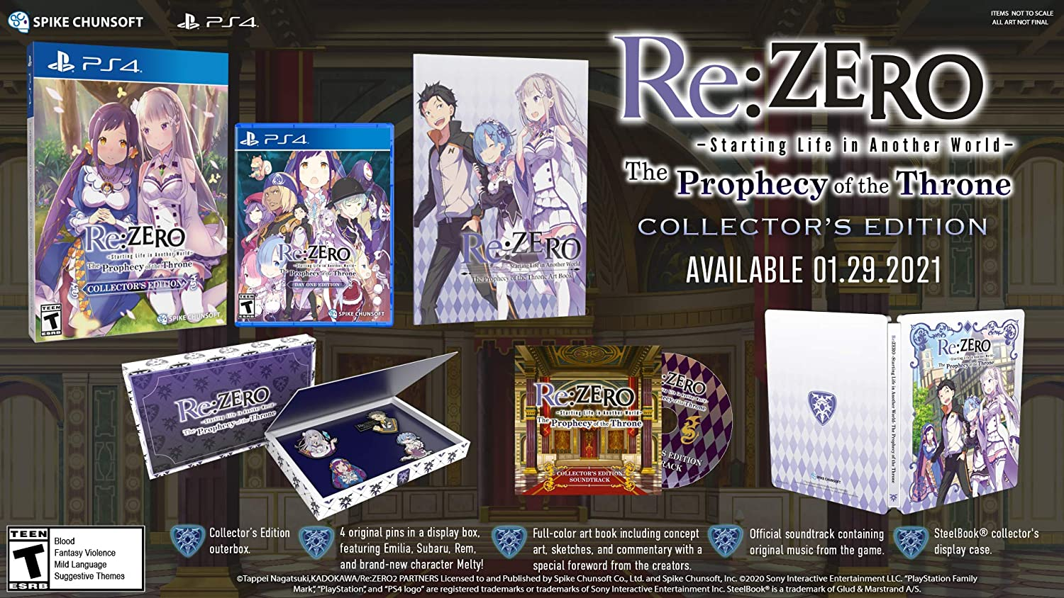 Re:ZERO – The Prophecy Sales for sale of the Collector's SEAL limited product Throne Editi