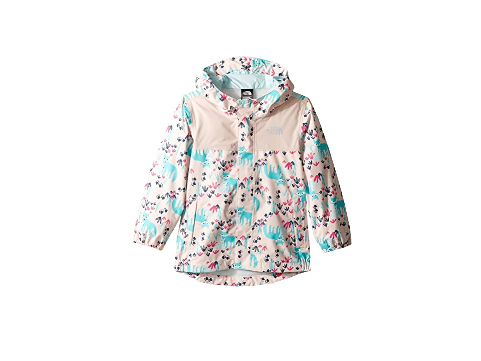 The North Face Kids Tailout Rain Jacket (Toddler) (Purdy Pink Fox Floral Print) Girl