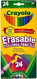 مداد رنگی Crayola قابل پاک کردن ، 24 مداد غیر سمی ، پیش تیز ، کاملاً پاک کننده مداد رنگی برای کتاب های رنگ آمیزی بزرگسالان یا کودکان 4 و بالاتر ، عالی برای سایه زدن ، درجه بندی ، هنر خط و سایر موارد