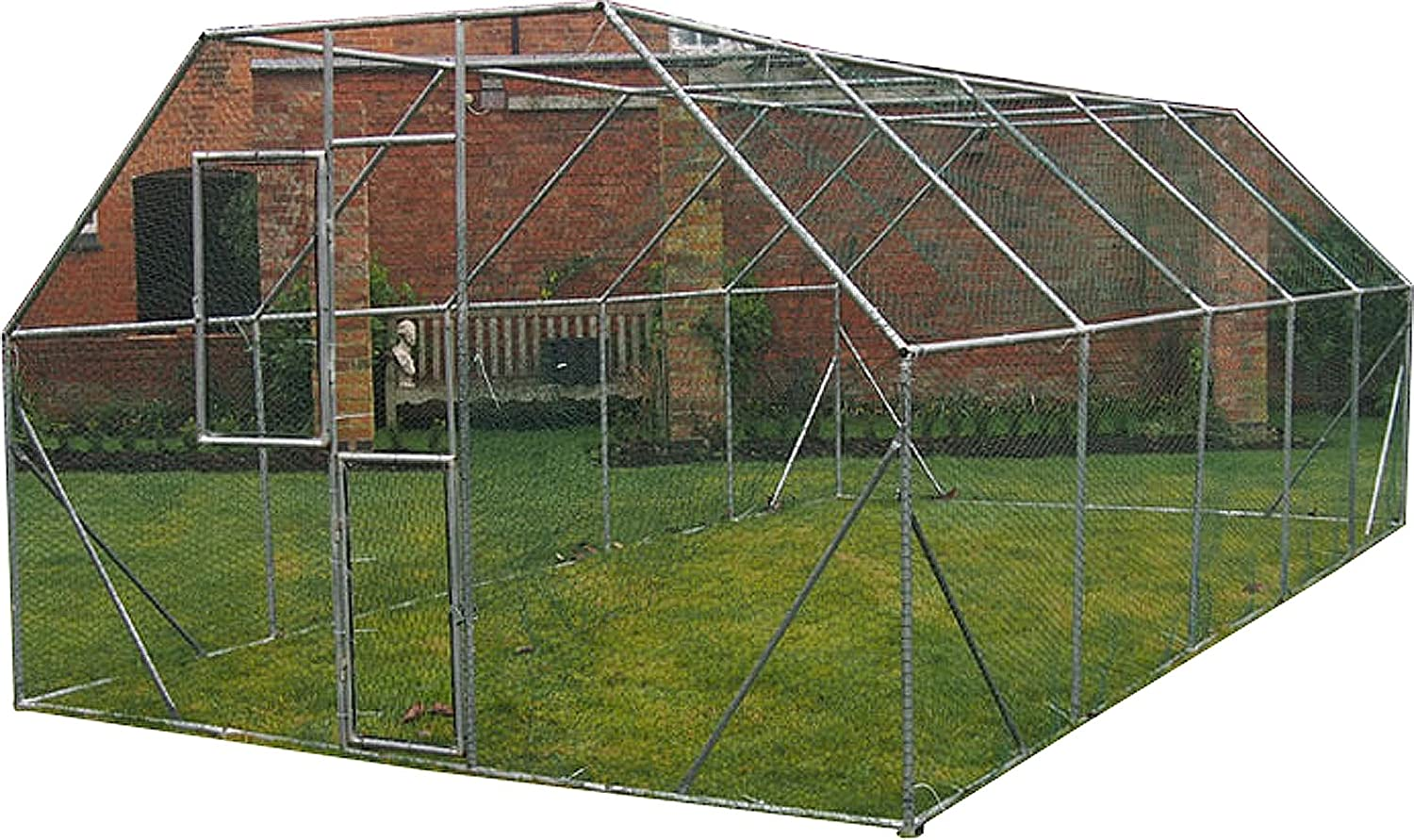 FeelGoodUK Galvanised Cage, 6 x 3 x 2 m