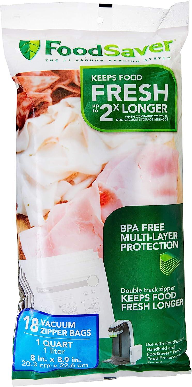 FoodSaver 1-Quart BPA-Free Multilayer Construction Zipper Vacuum Popular standard Reservation