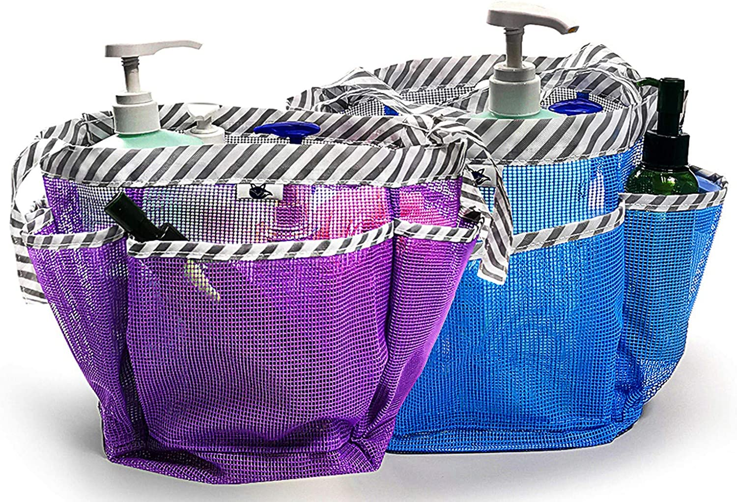 2 Super sale period limited Pack Mesh Shower Caddy Quick Gorgeous Tote Toil Hanging Dry Bag