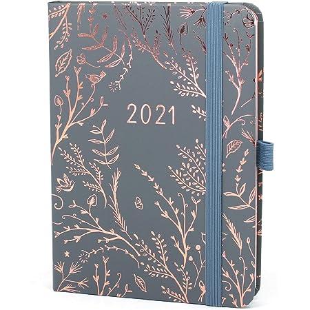 Boxclever Press Everyday Agenda 2021. Agenda 2021 semainier commence janv à déc 21. Agenda semainier 2021 avec pages de planning mensuelle & de notes pointillés. Planner 2021 en Gris