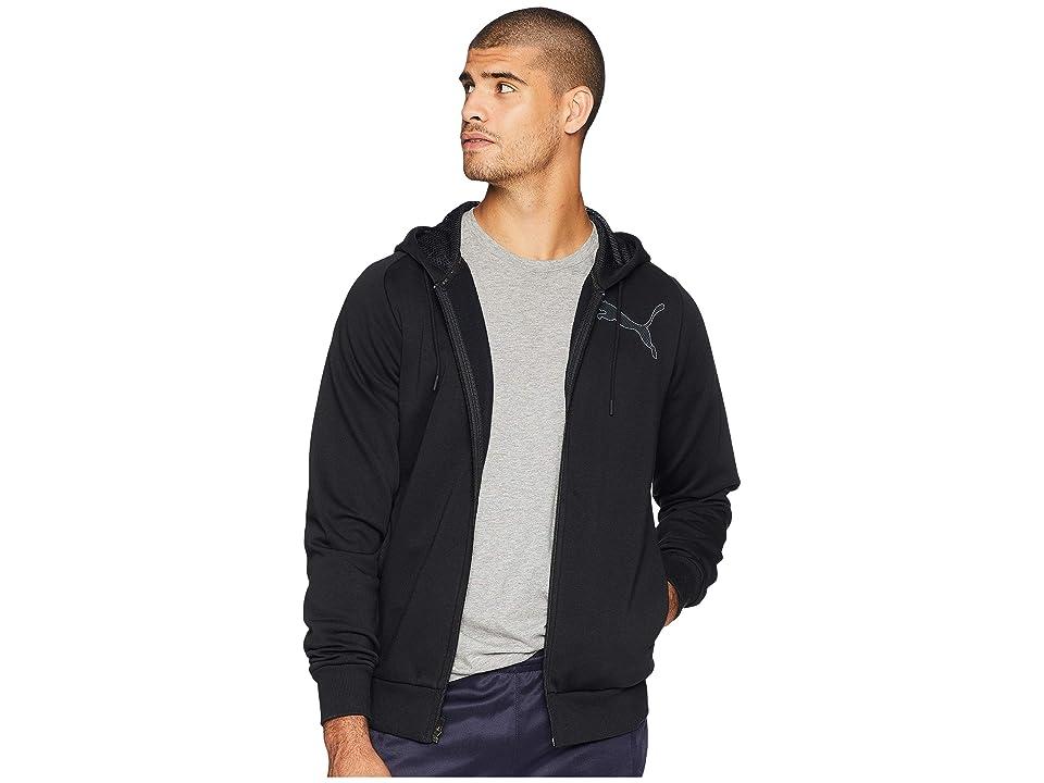 PUMA P48 Modern Sport Full Zip Fleece Hoodie (Cotton Black) Men