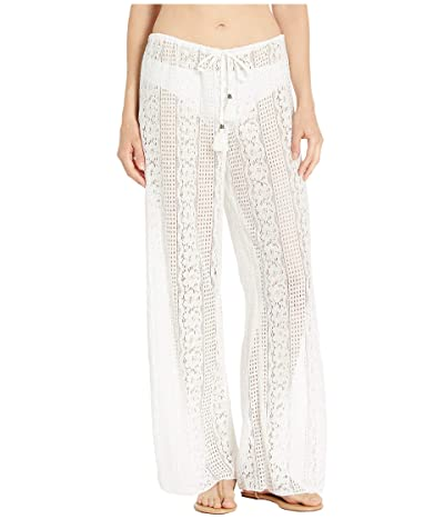BECCA by Rebecca Virtue Poetic Sheer Lace Pants Cover-Up (White) Women