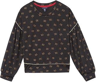 Calvin Klein girls Big Girls' Calvin Long Sleeve Graphic Tee Shirt