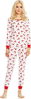 Leveret Women's Pajamas Fitted Christmas 2 Piece Pjs Set 100% Cotton Sleep Pants Sleepwear (XSmall-XLarge)