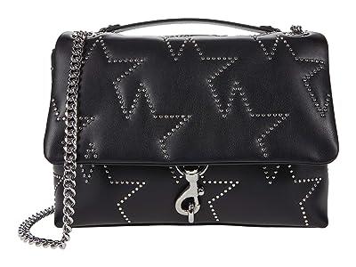 Rebecca Minkoff Edie Flap Shoulder Bag (Black 4) Handbags