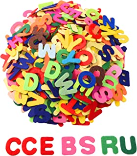 Outus 1 Inch Adhesive Felt Letters Felt Alphabet Letters Stickers for DIY Craft Ornament, 500 Pieces, Assorted Colors