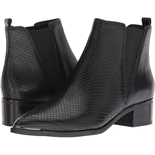 16f538936a Marc Fisher Womens YALE Leather Pointed Toe Ankle Chelsea Boots, Black