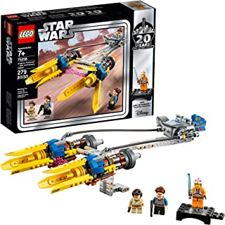 LEGO Star Wars: The Phantom Menace Anakin's Podracer – 20th Anniversary Edition 75258 Building Kit, New 2019 (279 Pieces)