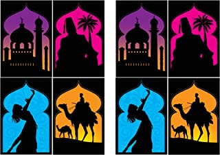 Beistle 53558 Arabian Nights Silhouettes, 8 Piece, 19