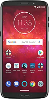 Moto Z3 Play with Alexa Hands-Free – 64 GB – Unlocked (AT&T/Sprint/T-Mobile/Verizon) – Deep Indigo – Prime Exclusive Phone