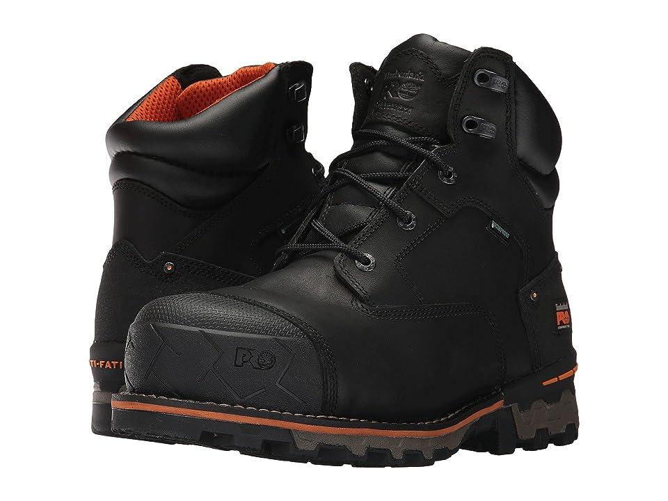 Timberland PRO Boondock 6 Composite Safety Toe Waterproof (Black Full Grain Leather) Men