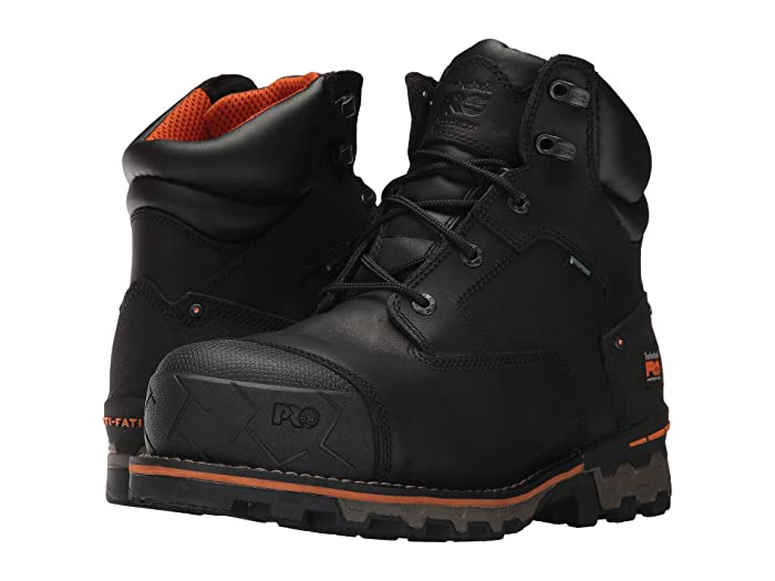 Timberland PRO  Boondock 6 Composite Safety Toe Waterproof (Black Full Grain Leather) Mens Work Lace-up Boots