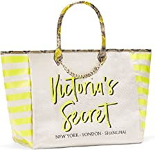 Victoria's Secret Angel City Tote (Yellow Striped/Python)