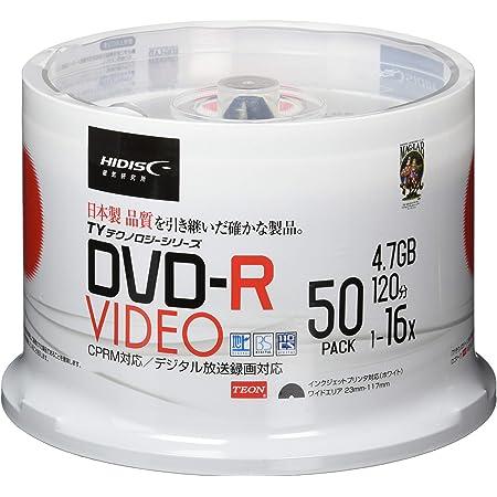 HI-DISC 録画用DVD-R TYDR12JCP50SP (16倍速/50枚/TYテクノロジー)