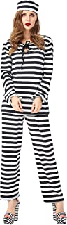 Prisoner Costume, Halloween Masquerade Party, Women's, Cosplay Role Play, Stage Prop