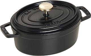 Staub 1101525 Oval Cocotte Pot, 15 cm, Matt Black