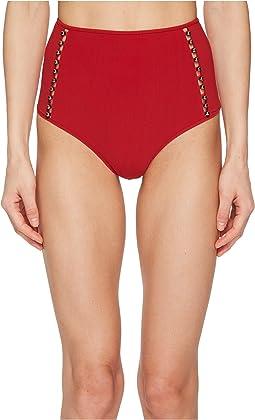 Jonathan Simkhai Pearl Studded High-Waisted Bikini Bottom