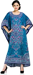 Goood Times Plus Size Kaftan Dress Tunic Long Maxi Kimono Caftan Gown Nightdress Beach Party Casual Dress