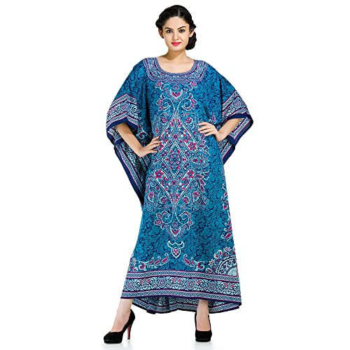 1bba1a7ed2e Goood Times Plus Size Kaftan Dress Tunic Long Maxi Kimono Caftan Gown  Nightdress Beach Party Casual