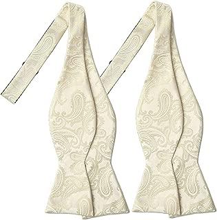 KissTies 2 PCS Self-Tie Paisley Bow Tie + Gift Box