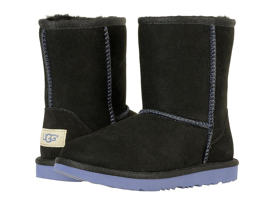 UGG Kids Classic II (Little Kid/Big Kid) (Black/Nocturn) Kids Shoes