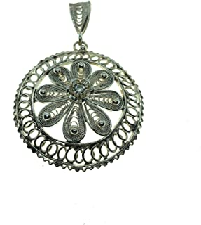 Fingerprint Jewelry Btam Handmade Collection 925 Sterling Silver Necklace Pendant Mountain Necklace, thumbprint Necklace Fingerprint Necklace urn Necklace
