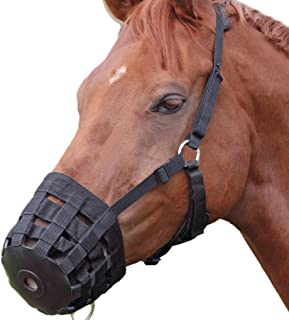 Alfie Pet - Equestrian Claude Adjustable Easy Breathe Nylon Horse Grazing Muzzle