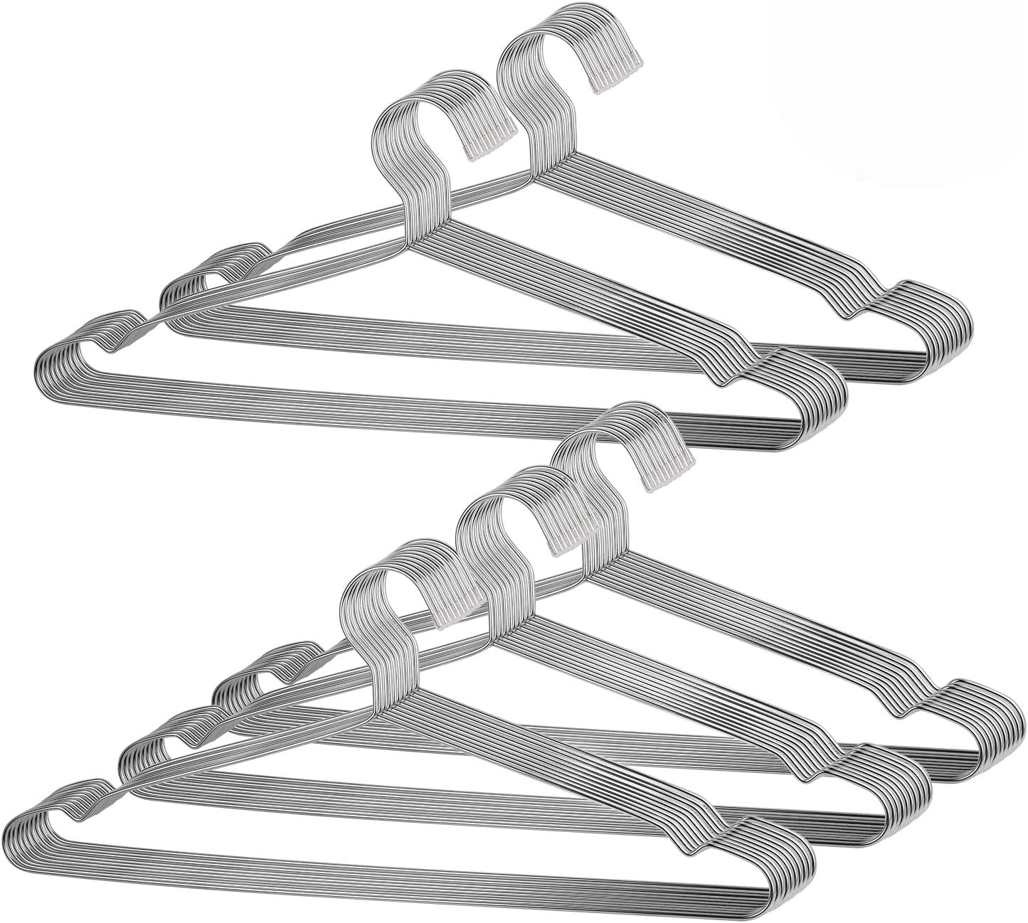 New products world's highest quality popular price KINJOEK 50 Packs Wire Hangers Stainless Steel Clothes for 16.6