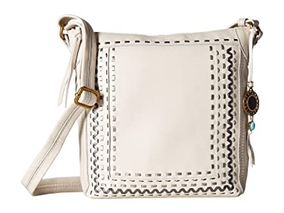The Sak Tahoe Leather North/South Crossbody By The Sak Collective (Metallic Whipstitch) Handbags