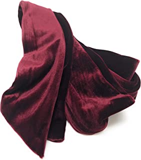 Vintage Velvet Velour Polyester Long Skinny Scarf Belt Headwrap Necktie Choker Accessory