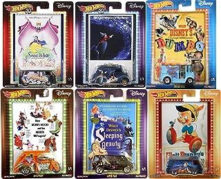 Hot Wheels Bread Dumbo Box Car Disney Pop Collection Sleeping Beauty / Robin Hood & Pinocchio Snow White VW / Fantasia / Movie Culture Set Movie Poster Card Art