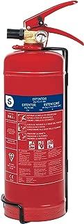 Smartwares FEX-15122 Extintor de Polvo seco, capacidad 2 kg, resistencia al fuego ABC (13A, 70B, C), incluye soporte para pared, certificado BSI