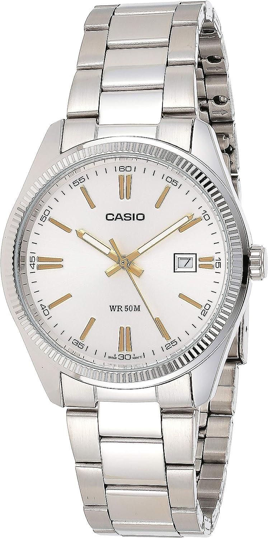 Casio MTP-1302D-7A2VDF (A488) A488 (A488) -Reloj de Pulsera de Hombre, Correa de Acero Inoxidable, Color Plata