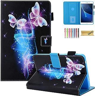 جراب Dteck لهاتف Samsung Galaxy Tab A 7.0 SM-T280 - جراب واقٍ بمسند من جلد البولي يوريثان لهاتف Samsung Galaxy Tab A 7.0 T...