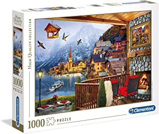 Clementoni 39481 39481-High Quality Collection Puzzle Hallstadt-1000 Pieces, Multi-Coloured