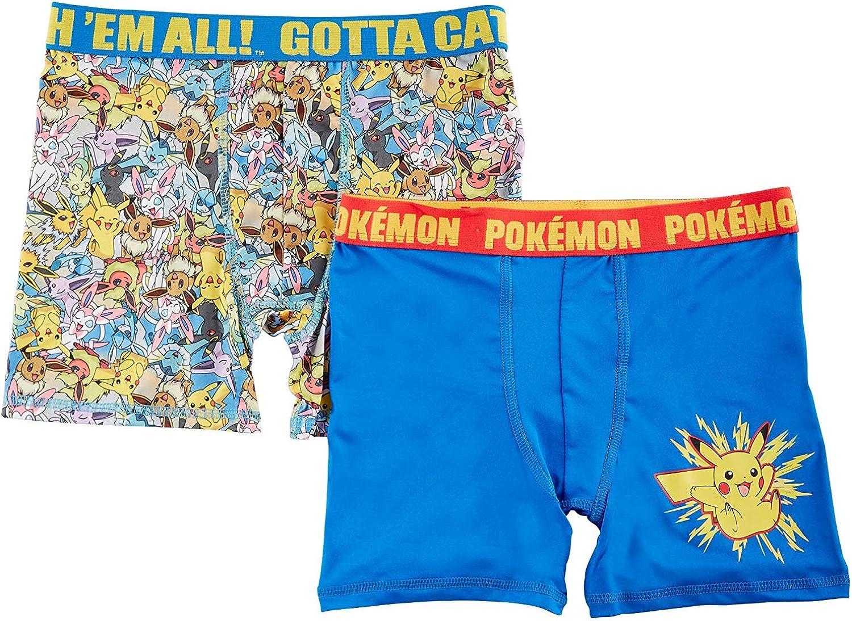 Pokemon Big Boys 2-pk. Character Boxer Briefs