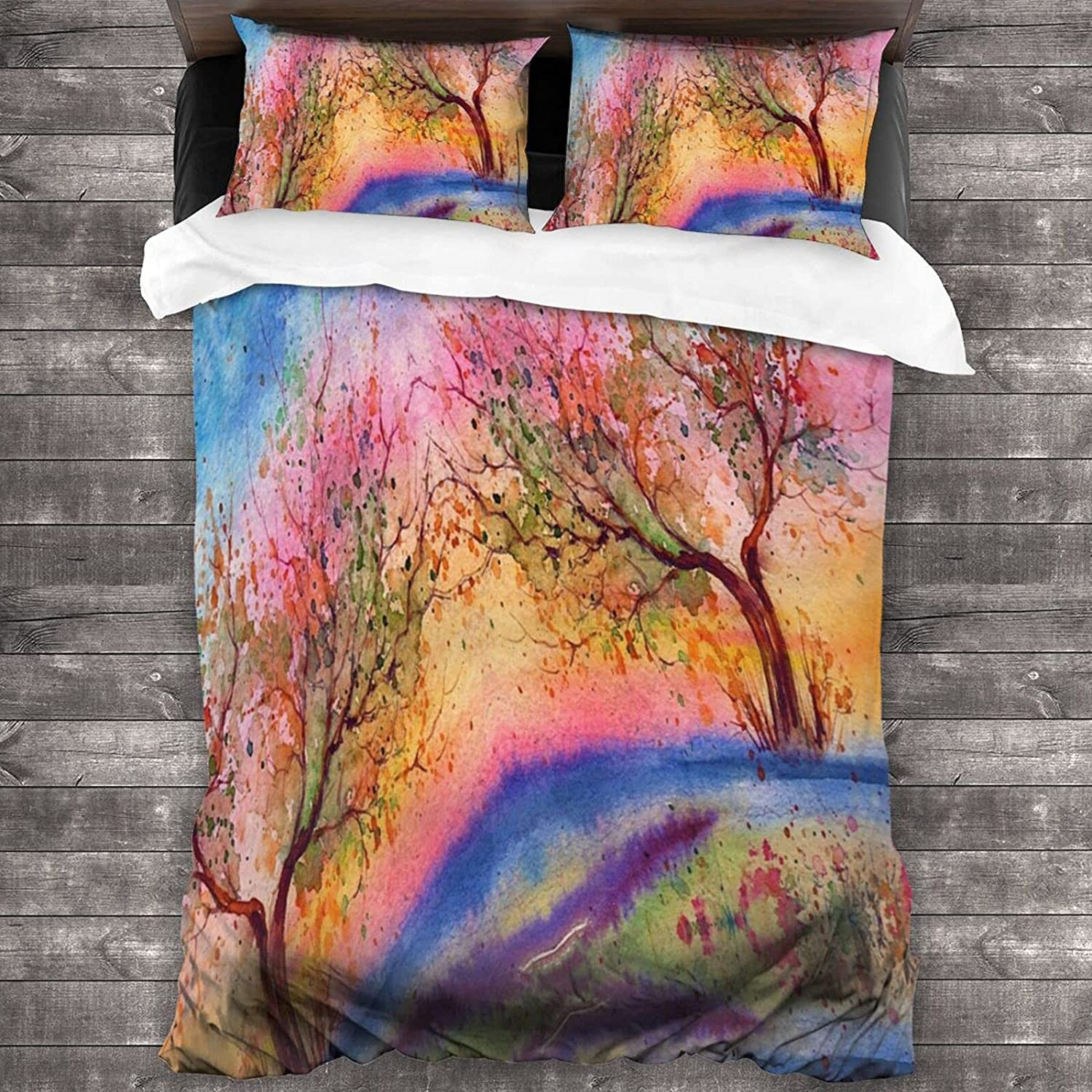 Colorful Oil Painting 3 Sale special price Piece Special price for a limited time Cove Comfortable Bedding Quilt Set