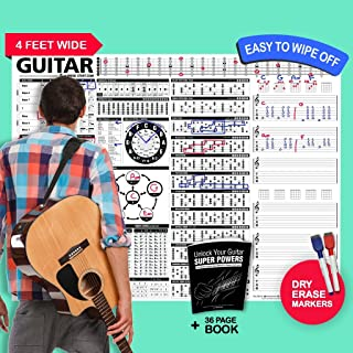 The Creative Guitar Poster - A Dry-Erase Educational Guitar Poster Containing Chords, Scales, Chord Formulas, Chord Progressions and More for Guitar Players of All Levels 48