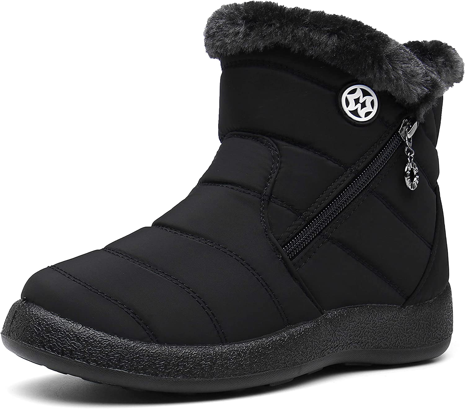 Womens Warm Fur Lined Winter Snow O Waterproof Ankle Boots Fort Worth Max 58% OFF Mall