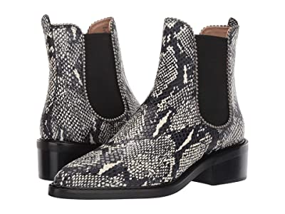 COACH Bowery Beadchain Bootie (Natural Printed Leather) Women