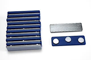 Applied Magnets 100 Name Badge Magnets - Magnetic Name Tag Holders with Three Neodymium Magnets