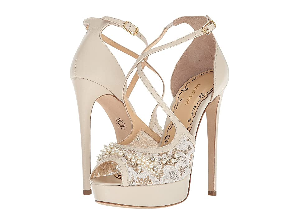 Marchesa Mattie (Nude Metallic Suede) Women
