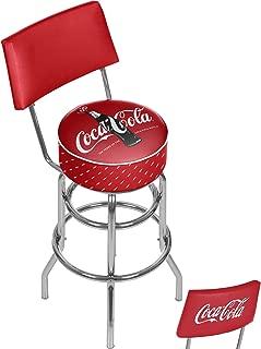 Trademark Gameroom 100th Anniversary of The Coca-Cola Bottle Stool, Black