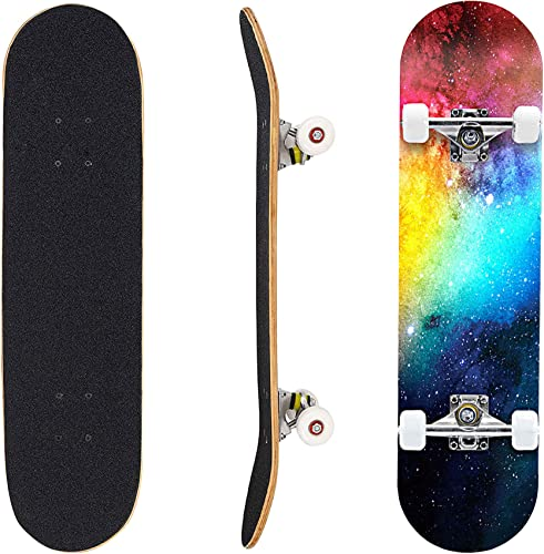 """popular Geelife Pro Complete Skateboards for Beginners Adults Youths Teens Kids Girls Boys 31""""x8"""" Skate Boards high quality 7 Layers Deck popular Maple Wood Longboards online sale"""