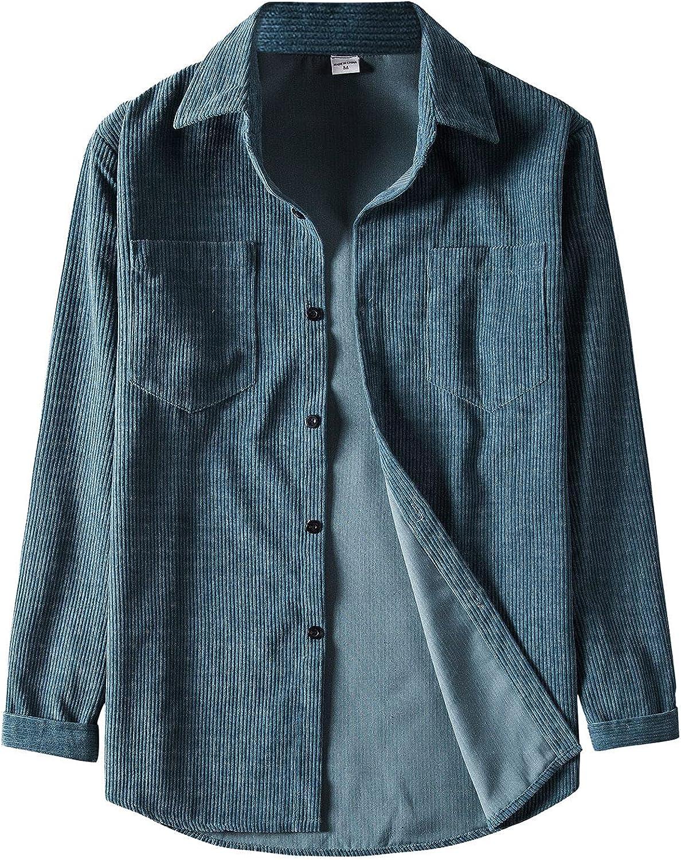 XXBR Men's Cotton Linen Shirts Long Sleeve Fall Stripe Button Down Hawaiian Shirt Relaxed-Fit Vintage Casual Beach Tops